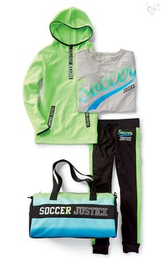 Tackle, pass, run with the ball and make the score! Reach your goals on the field with colorful and coordinated gear that wins at style.