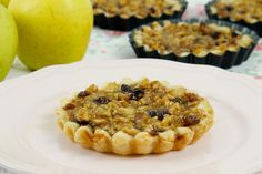 Tartaletas de manzanas, pasas y nueces