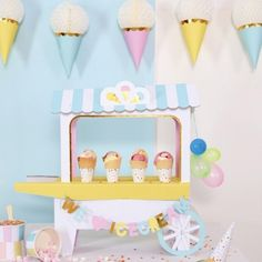Ice Cream Truck Centerpiece op partydeco.nl
