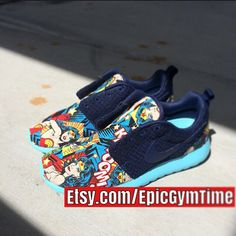 Wonder Woman Nike Roshe by EpicGymTime on Etsy
