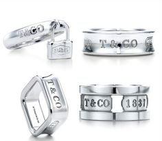 Tiffany Outlet 1837 Ring Set