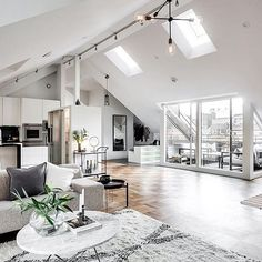 Lovely modern interior via @alexanderwhitesthlm
