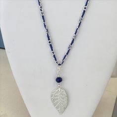 Leaf pendant necklace made from Just Add Beads Stash Box by Jean W