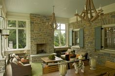 Could work with current small sunporch with windows opeing onto sunroom - Screened Porch - traditional - porch - cincinnati - RWA Architects