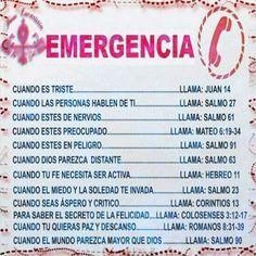 LLAMADAS DE EMERGENCIA A DIOS