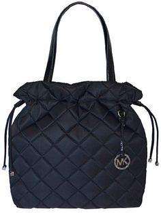 Michael Kors Black Item Quilt XL Drawstring Tote « Clothing Impulse