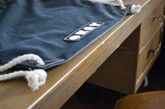 Blue velour gmy bag, handmade & fairtrade produced in Berlin #details #streetwear