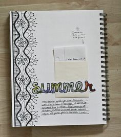 Neat idea...summer is ending -- write about your entire summer on a separate page and put it in a mini envelope in your journal.