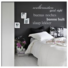 muurtekst, muursticker, memories, dreams, slaapkamer, sticker, Deco ideeën