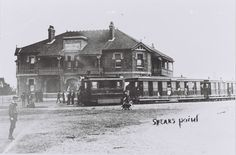 Steam tram at Speers Point Hotel (later Pippies Hotel), Speers Point, Community History Old Pictures, Old Photos, Newcastle Town, Australian Road Trip, Tourist Info, Victorian Photos, Old Maps, Central Coast, My Town