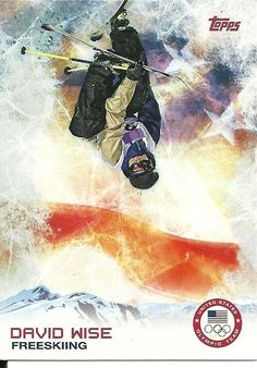 2014 Topps Winter Olympics Team DAVID WISE # 94 FreeSkiing - SET BREAK
