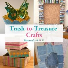 These 26 unique trash-to-treasure crafts are great ways to recycle old items. Before you throw something out, try one of these recycled craft ideas! Detergent Bottle Crafts, Water Bottle Crafts, Plastic Bottle, Soda Can Crafts, Crafts To Sell, Selling Crafts, Diy Crafts, Recycled Crafts Kids, Magazine Crafts