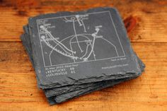 Kentucky Greatest Plays Coasters - Slate Coasters (Set of 4) – Points and Pints