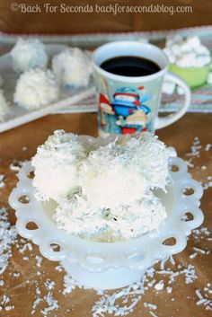 Brownie Snowballs - A fun, festive treat to add to your holiday baking list! http://backforsecondsblog.com #christmasdessert #snowball #brownie