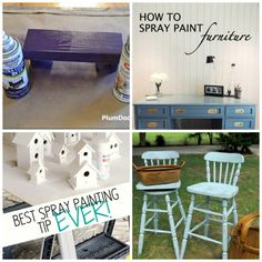 60 Amazing Spray Paint Projects (& Four Great Spray Painting Tips! Spray Paint Projects, Diy Craft Projects, Decor Crafts, Diy Home Decor, Diy Crafts, Adult Crafts, Craft Ideas, Furniture Projects, Furniture Makeover