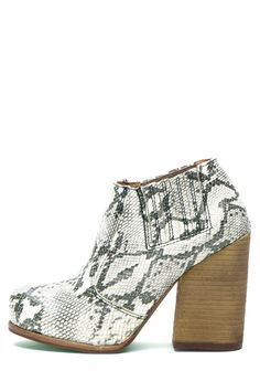 Jeffrey Campbell Shoes YORKTOWN Booties in Grey Black Shiny Snake
