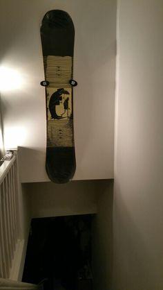 Wall mount snowboard