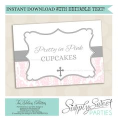 EDITABLE TEXT printable candy buffet label by SimplySweetParties