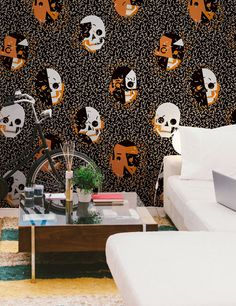 Feathr launches wallpaper by tattooists, graffiti artists and surfwear designers.
