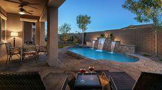 Gorgeous backyard sanctuary. Kinetic Point at #Eastmark in Mesa, Arizona. #MaracayHomes