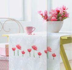 Pink Flower Motif free cross stitch pattern from www.coatscrafts.pl