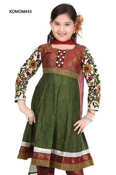 $66 Paisley Printed Silk Cotton Anarkali Churidar Set From Cbazaar