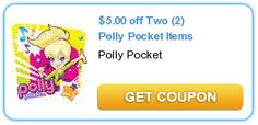 $5.00 Off Two (2) Polly Pocket Items