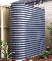 Rain water tanks come in a lot of new shapes and sizes and no longer have to take up a heap of room in our yards.