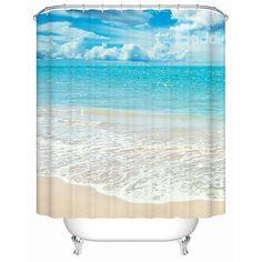 Beautiful Beach in Sunny Day Print 3D Bathroom Shower Curtain on sale, Buy Retail Price 3D Shower Curtains at Beddinginn.com