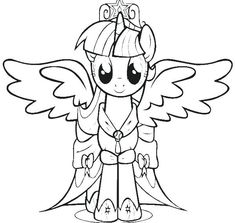 my little pony twilight sparkle printable coloring pages new page with additional line drawings