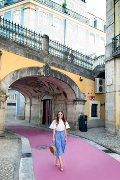 Crew Blue Striped Skirt at Palacio Marqueses Fronteira Lisbon Visit Portugal, Portugal Travel, Portugal Trip, Europe Street, Pink Street, Cheap Places To Travel, Portuguese Culture, International Travel Tips, Travel And Leisure
