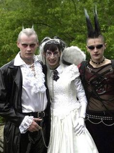 Not sure if that's the best man or the maid of honor next to the virginal bride...