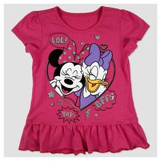 Toddler Girls' Minnie Mouse Minnie And Daisy T-Shirt - Pink 4T, Toddler Girl's