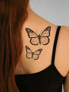 Butterfly Monarch Temporary Tattoo  1 large and 1 by TattooMint, $5.99