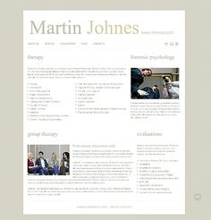 Martin Johnes Website Templates by Delta