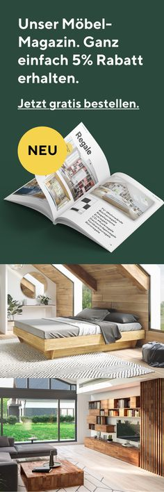Looking for individual wooden furniture?- Order our magazine for free now and find your dream furniture made to measure.