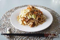 Yakisoba Recipe, Japchae, Lasagna, Spaghetti, Cooking, Ethnic Recipes, Food, Kitchen, Essen