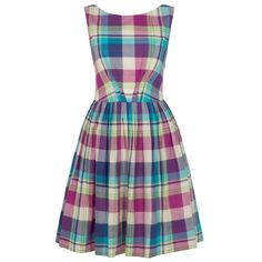 Emily and Fin Pastel Plaid Abigail Dress ~ Size XL