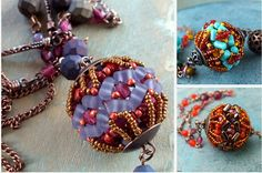 Rulla Filigree Beaded Component Rulla Beads Seed Beads Jewelry Making Beaded Component