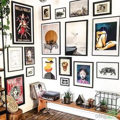 Inexpensive Wall Gallery Ideas For A Perfect Wall Decor On A Budget Pictures For Bathroom Walls, Rustic Home Design, Wall Art Designs, White Decor, Frames On Wall, Home Decor Bedroom, Cheap Home Decor, Home Decor Accessories, Home Art