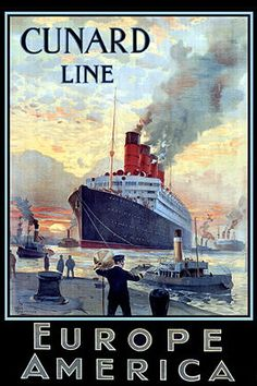 cunard line, travel by sea. I've never taken a cruise, but it is on my list of to do's...