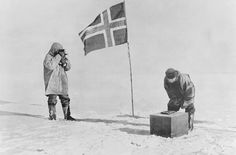 14 December 1911 - A Norwegian group of explorers led by Roald Amundsen are the first people to reach the South Pole. Amundsen kept the target of his mission a secret from everyone, including his crew, and only revealed the aim while they were en route. Tragically, the English rival group of Antarctic explorers, including Robert F Scott, died while attempting the same feat. #HistSci  _© Bettmann/Getty Images_