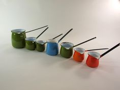 Instant Collection of  Vintage Enameled Butter Dippers via avantgarage: $50 #Butter_Dippers #avantgarage