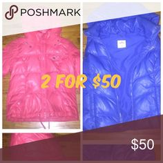 Hollister COAT AND VEST CORAL AND ROYAL BLUE COLOR Hollister COAT AND VEST CORAL AND ROYAL BLUE COLOR Hollister Jackets & Coats