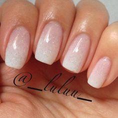 Nude & Glitter Wedding Nails for Brides / http://www.himisspuff.com/wedding-nail-art-desgins/8/