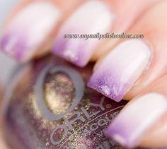 White and purple gradient