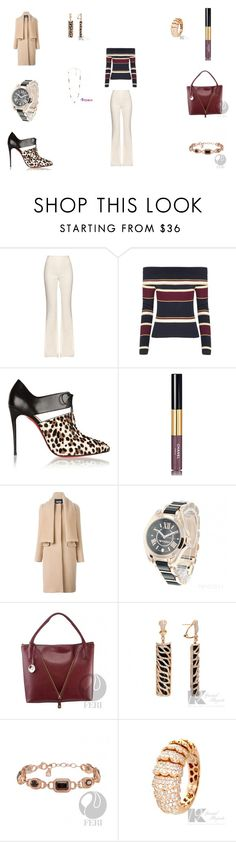 """Untitled #594"" by panicsam ❤ liked on Polyvore featuring Giambattista Valli, Christian Louboutin, Chanel and MSGM"