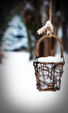 Basket of snow