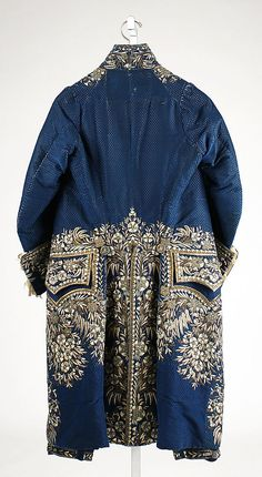 Rear view of Frockcoat, part of a Court suit, late 18th–early 19th century, French, silk, metallic thread, paste (c) Metropolitan Museum of Art