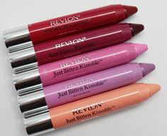 Revlon Just Bitten Kissable Balm Stains - these are the BEST lip products! Give great color payoff :) my fav is cherish